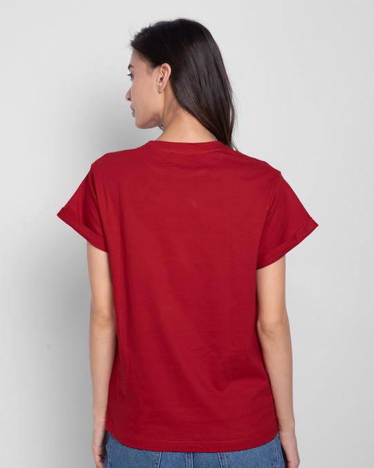 Shop Wild Soul Boho Gold Print Boyfriend T-Shirt-Back