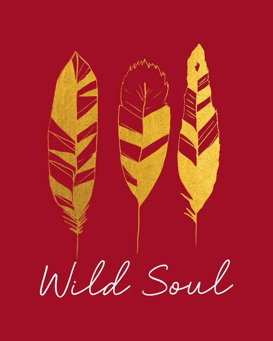 Shop Wild Soul Boho Gold Print Boyfriend T-Shirt-Full