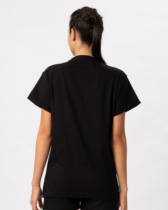 Shop Wild Wolf Boyfriend T-Shirt-Full