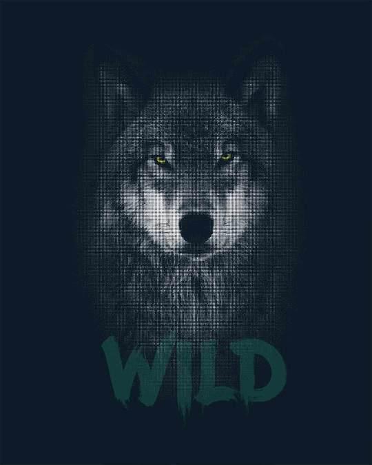 Shop Wild Wolf Boyfriend T-Shirt