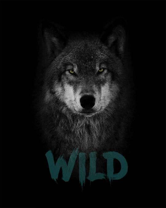 Shop Wild Wolf Full Sleeve T-Shirt