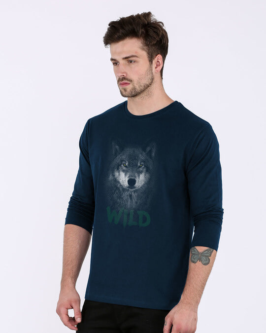 Shop Wild Wolf Full Sleeve T-Shirt-Back