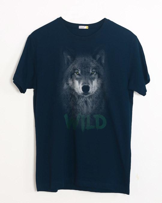 Shop Wild Wolf Half Sleeve T-Shirt-Front