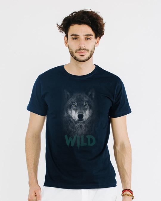 Shop Wild Wolf Half Sleeve T-Shirt-Back