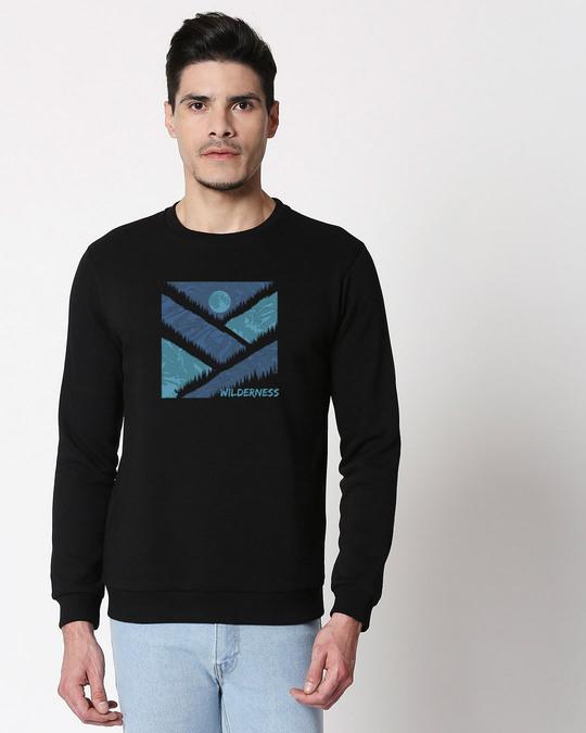 Shop Wilderness Fleece Sweater Black-Front