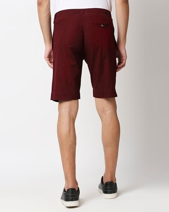 Shop Wine Red Comfort Shorts-Design