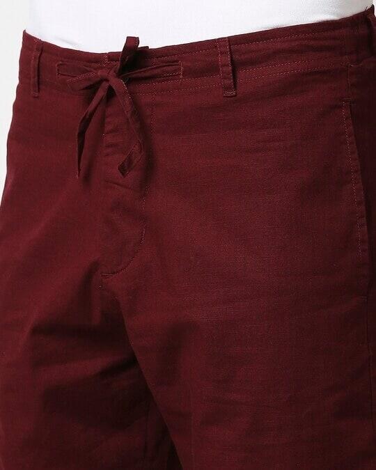Shop Wine Red Comfort Shorts