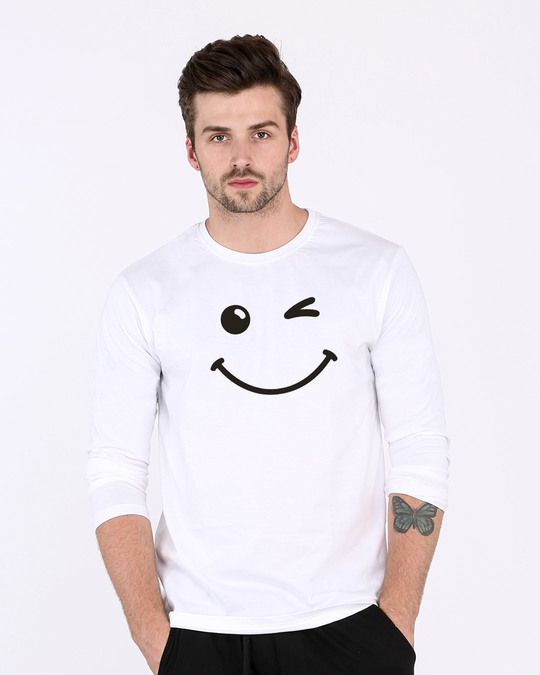 Shop Wink It All Full Sleeve T-Shirt-Front