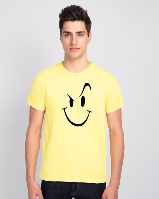 Shop Wink New Half Sleeve T-Shirt Pastel Yellow-Front