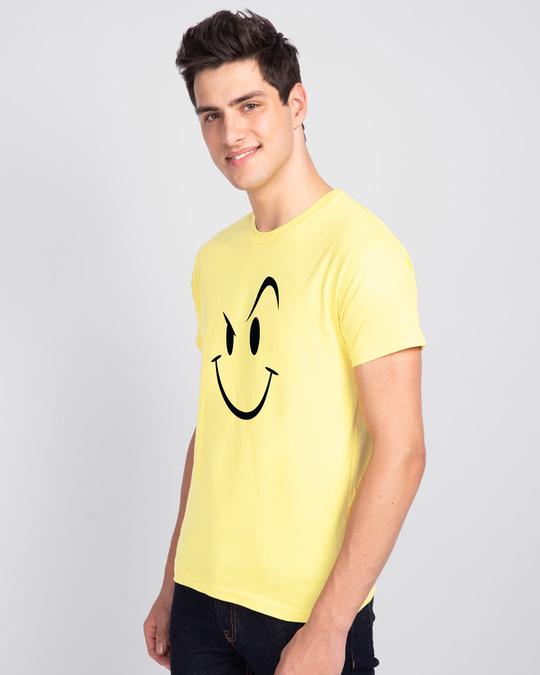 Shop Wink New Half Sleeve T-Shirt Pastel Yellow-Back