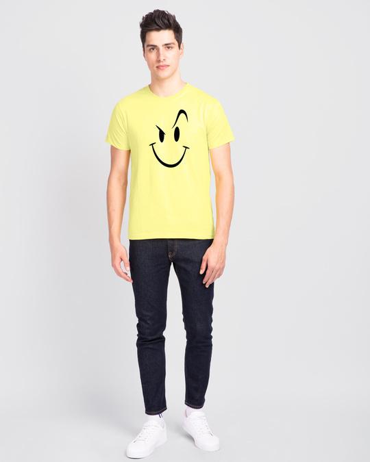 Shop Wink New Half Sleeve T-Shirt Pastel Yellow-Full
