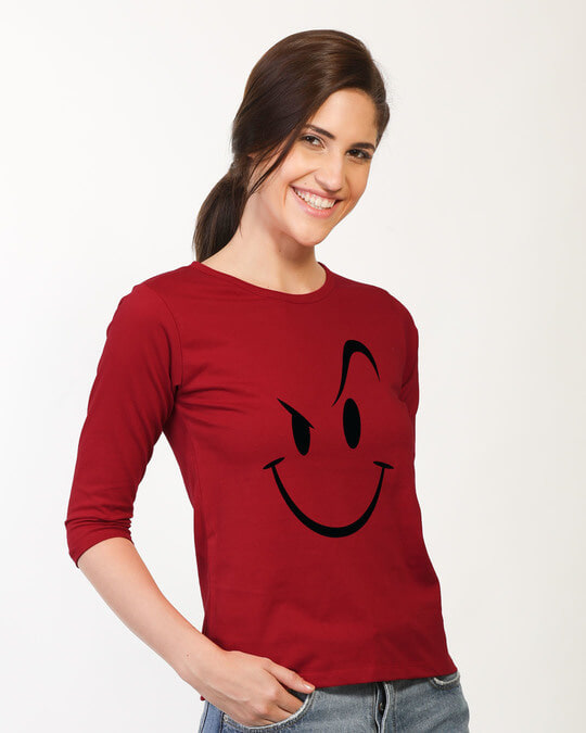 Shop Wink New Round Neck 3/4th Sleeve T-Shirt-Back