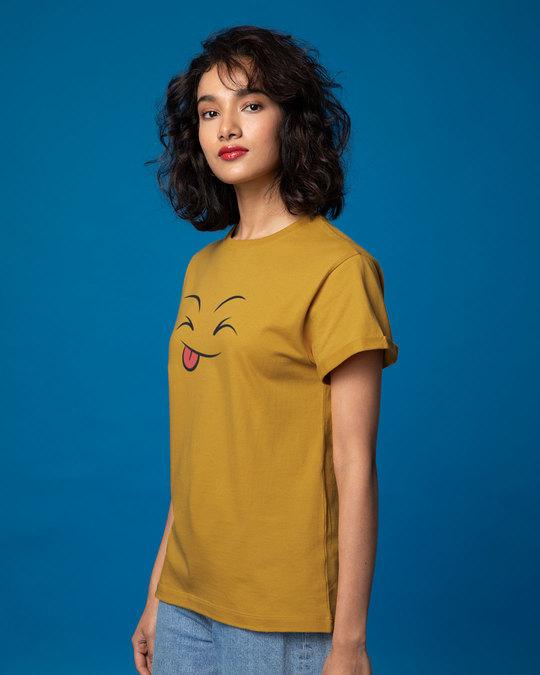 Shop Winky Smiley Boyfriend T-Shirt-Back
