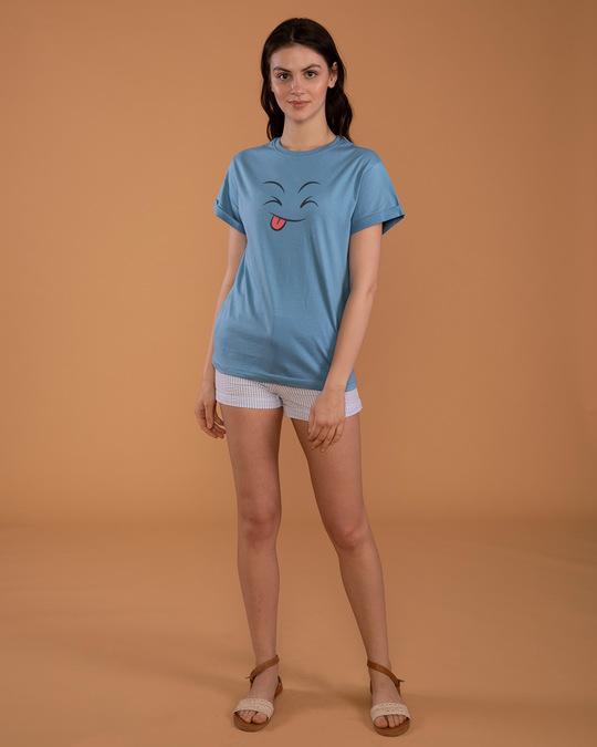 Shop Winky Smiley Boyfriend T-Shirt-Full