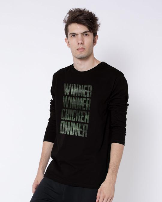 Shop Winner Chicken Full Sleeve T-Shirt-Back
