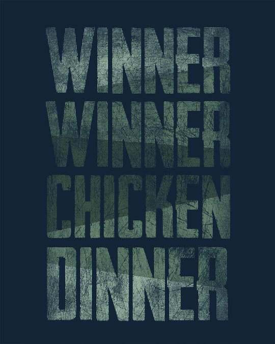 Shop Winner Chicken Round Neck 3/4th Sleeve T-Shirt