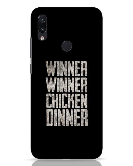 Shop Winner Winner Xiaomi Redmi Note 7 Pro Mobile Cover-Front