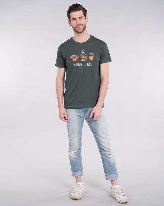 Shop Winter Drinks Half Sleeve T-Shirt-Design