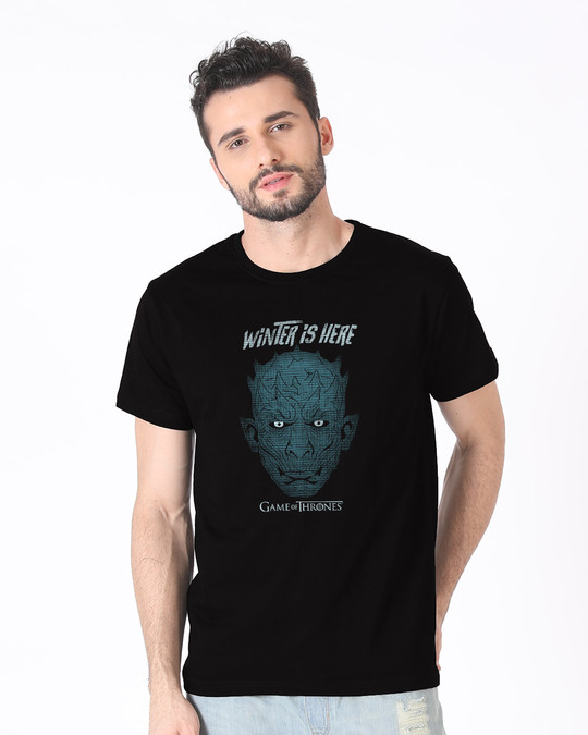Shop Winter In Winterfell Half Sleeve T-Shirt (GTL)-Back