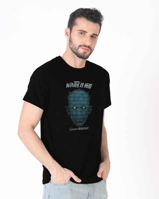 Shop Winter In Winterfell Half Sleeve T-Shirt (GTL)-Full