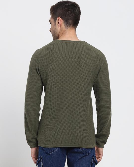 Shop Winter Moss Full Sleeve Flat Knit Sweater-Design