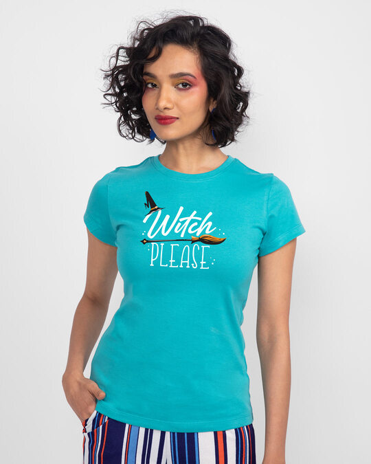 Shop Witch Please Half Sleeve  T-shirt-Back