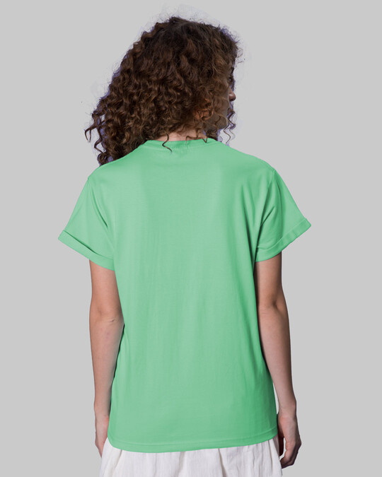 Shop With A Smile Boyfriend T-Shirts Jade Green -Back