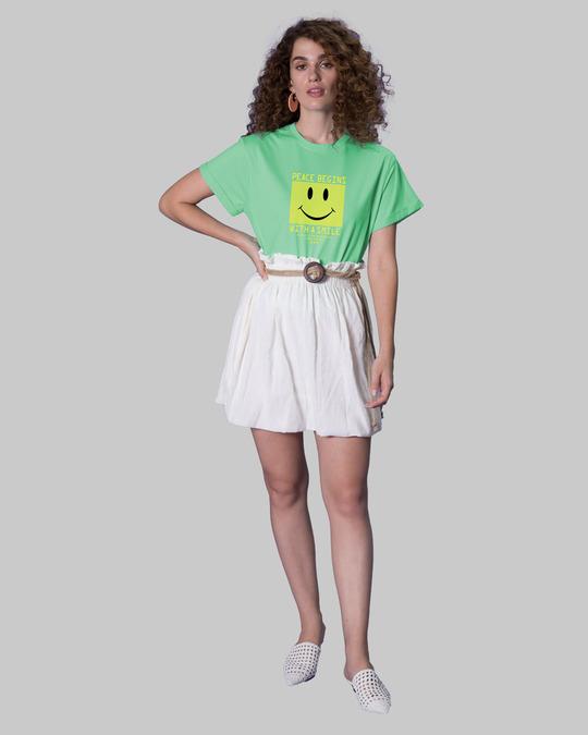 Shop With A Smile Boyfriend T-Shirts Jade Green -Design