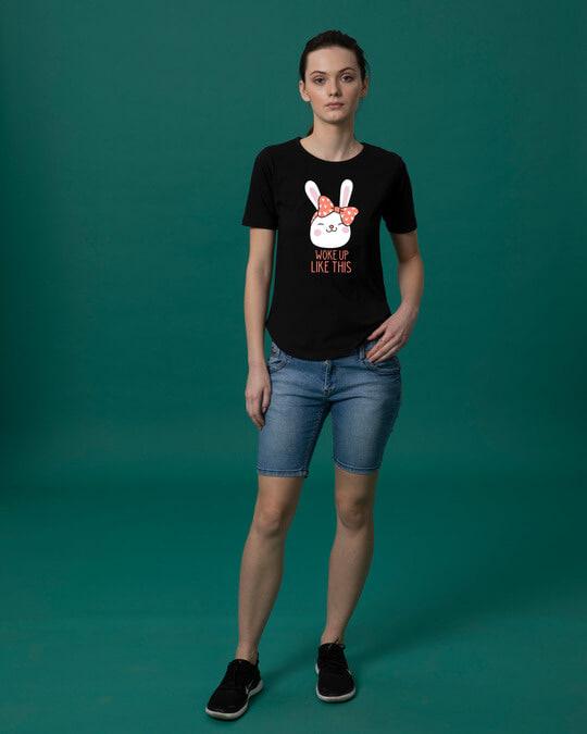 Shop Woke Up Like This Basic Round Hem T-Shirt