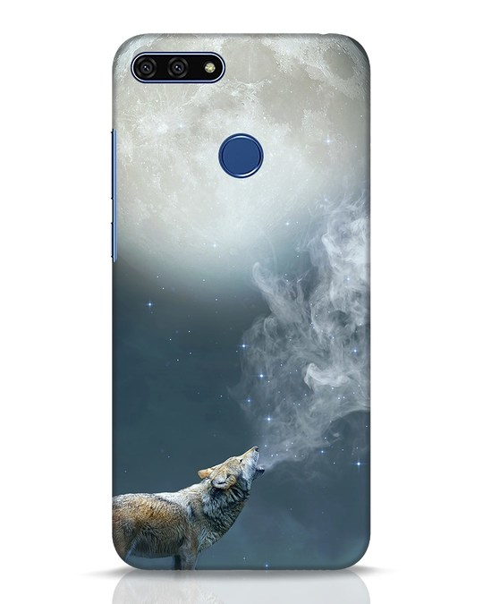 Shop Wolf Moon Huawei Honor 7A Mobile Cover-Front
