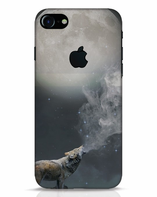 Shop Wolf Moon iPhone 7 Logo Cut Mobile Cover-Front