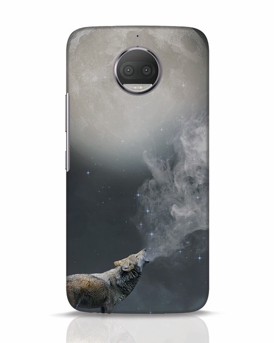 Shop Wolf Moon Moto G5s Plus Mobile Cover-Front