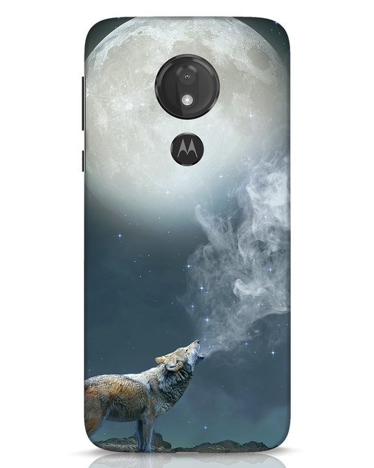 Shop Wolf Moon Moto G7 Power Mobile Cover-Front