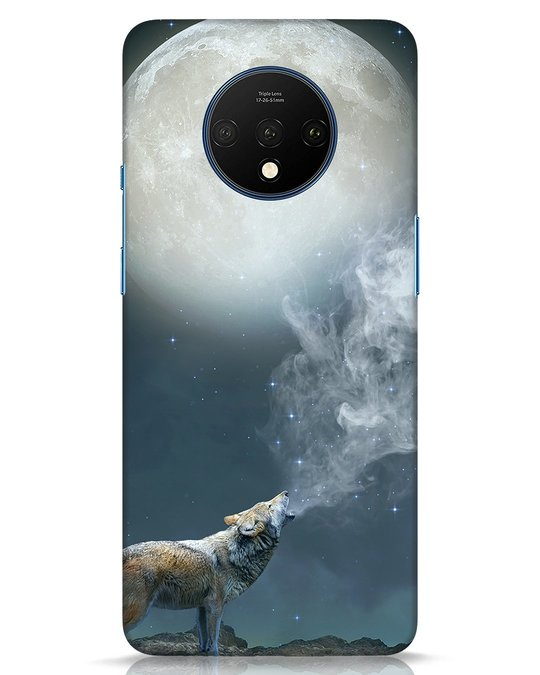 Shop Wolf Moon OnePlus 7T Mobile Cover-Front