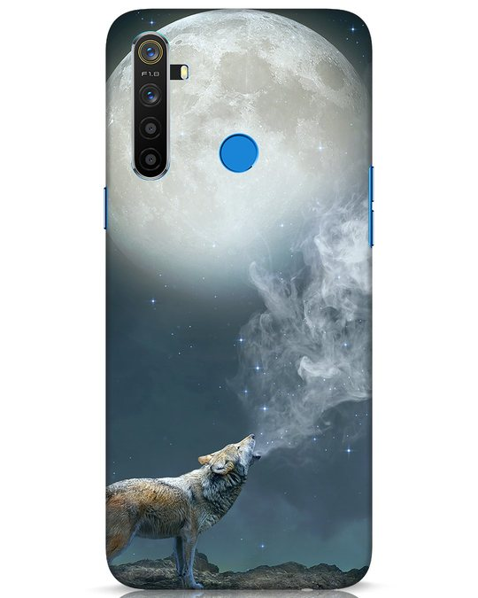 Shop Wolf Moon Realme 5 Mobile Cover-Front