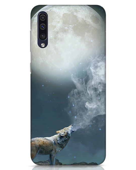 Shop Wolf Moon Samsung Galaxy A50 Mobile Cover-Front