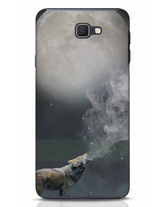 Shop Wolf Moon Samsung Galaxy J7 Prime Mobile Cover-Front