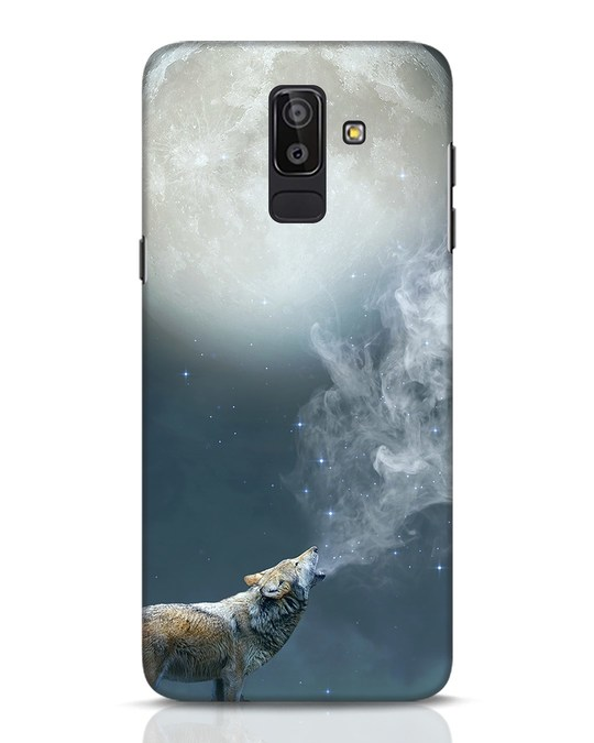 Shop Wolf Moon Samsung Galaxy J8 Mobile Cover-Front