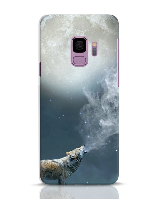 Shop Wolf Moon Samsung Galaxy S9 Mobile Cover-Front