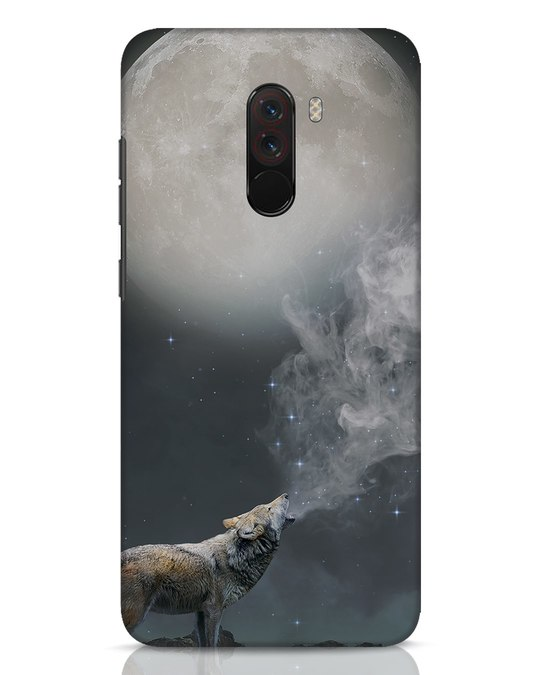 Shop Wolf Moon Xiaomi POCO F1 Mobile Cover-Front
