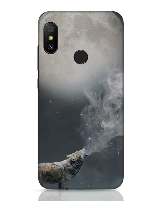 Shop Wolf Moon Xiaomi Redmi 6 Pro Mobile Cover-Front