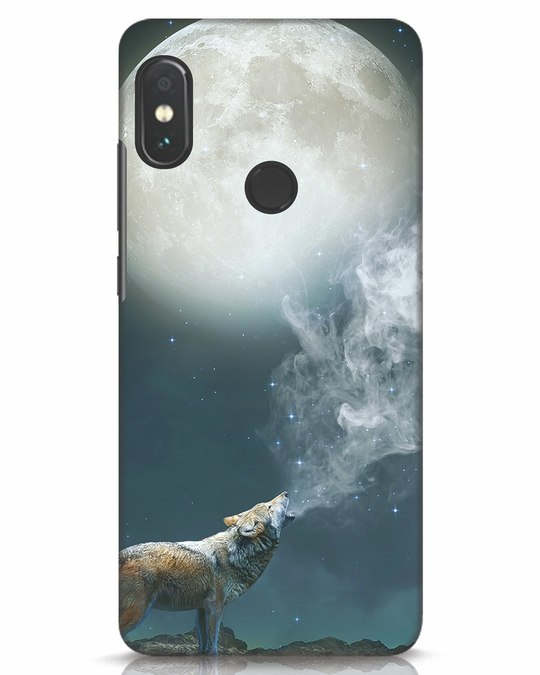 Shop Wolf Moon Xiaomi Redmi Note 5 Pro Mobile Cover-Front