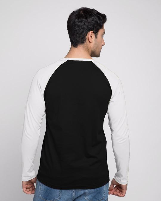 Shop Wolverine Poster Full Sleeve Raglan T-Shirt Black - White (XML)-Design