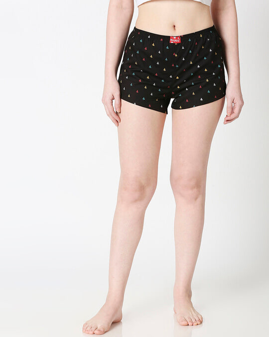 Shop Women All Over Printed Boxers-Back