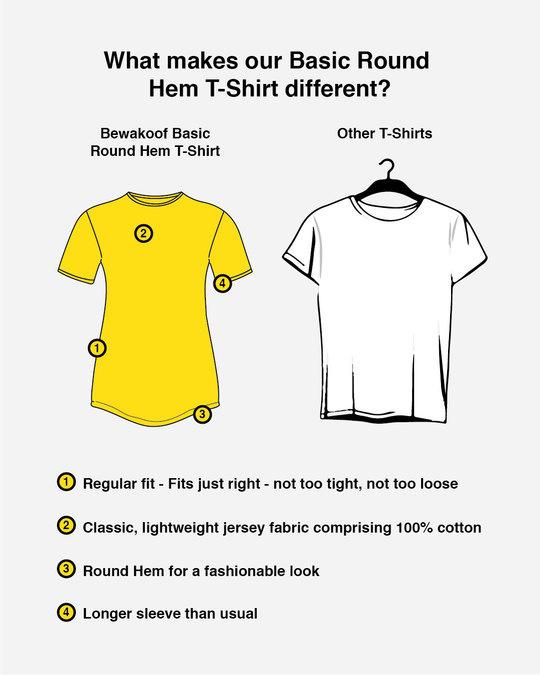 Shop Mustard Yellow Basic Round Hem T-Shirt-Design