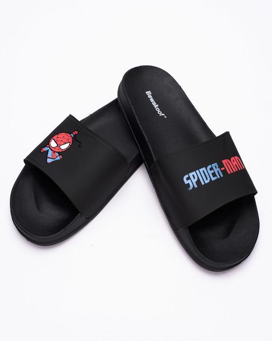 Shop Women Kawaii Spider Man Sliders (SPL)-Front