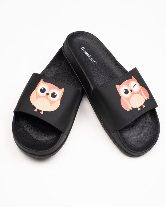 Shop Women Owls Sliders-Front