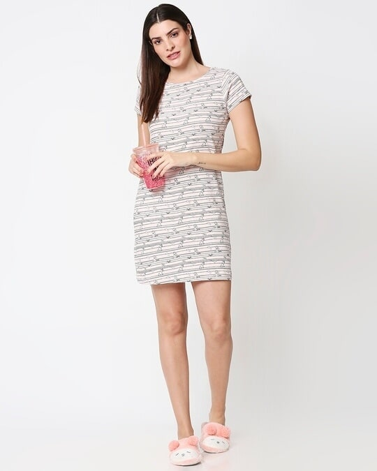 Shop Women's All Over Printed Night Dress-Full