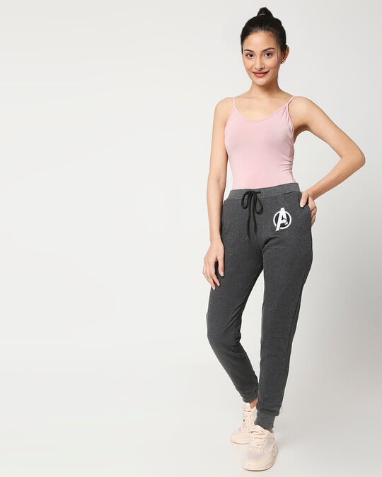 Shop Women's Anthra Melange Twisted Jogger