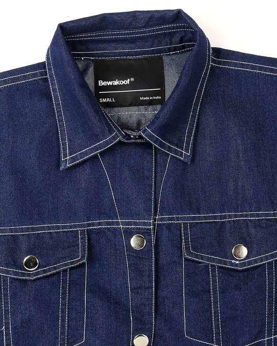 Shop Savage Varsity Denim Jacket